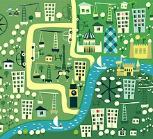 Cartoon Map of London by Anastasiia Kucherenko