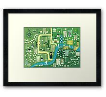 Cartoon Map of London Framed Print