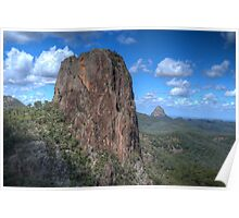 Crater Bluff, Warrumbungle National Park, NSW, Australia  (HDR) Poster