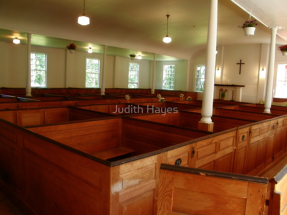Colonial Period Church Interior by Judith Hayes