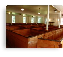 Colonial Period Church Interior Canvas Print