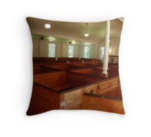 Colonial Period Church Interior Throw Pillow