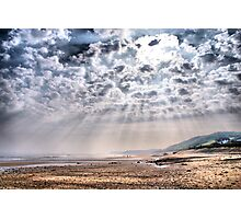 Heavenly Rays at Sandsend Beach Photographic Print