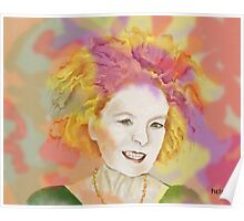 Candy floss Vivienne Poster