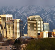 Salt Lake City Evening Light by Ryan Houston