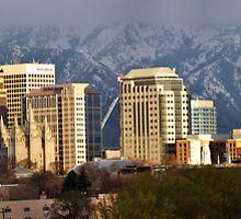 Salt Lake City Evening Light by Ryan Houston