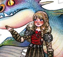 Astrid and Stormfly from HTTYD2 Sticker