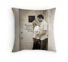 Kiss in the Doorway Throw Pillow