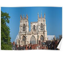 York Minster from across the rooftops Poster