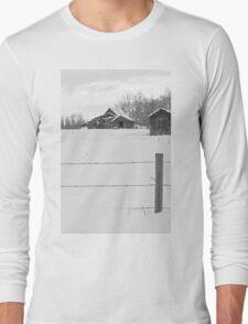 Shacks Winter Scene Long Sleeve T-Shirt