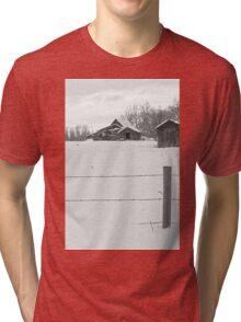 Shacks Winter Scene Tri-blend T-Shirt
