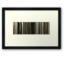 Moviebarcode: No Country for Old Men (2007) Framed Print