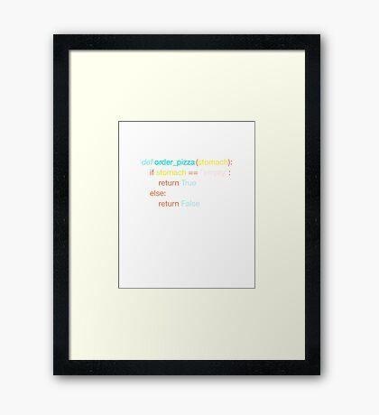 Hungry Coder - Python Edition (Light) Framed Print
