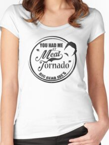 Ron swanson , Meat tornado Women's Fitted Scoop T-Shirt