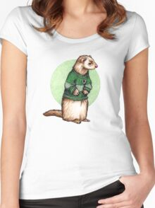 Little Slytherin Ferret Draco Malfoy Women's Fitted Scoop T-Shirt