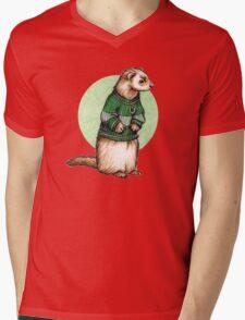 Little Slytherin Ferret Draco Malfoy Mens V-Neck T-Shirt