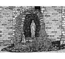 202 - LOURDES GROTTO, ST WILFRID'S CHURCH, BLYTH - DAVE EDWARDS - INK - 1997 Photographic Print