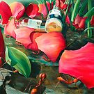 Antisocial - oil painting of leaf cutter ants in Mexico by James  Knowles