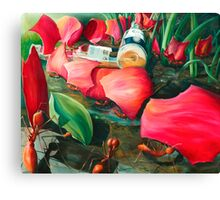 Antisocial - oil painting of leaf cutter ants in Mexico Canvas Print