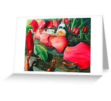 Antisocial - oil painting of leaf cutter ants in Mexico Greeting Card