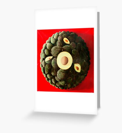 Aguacates de Cuernavaca - oil painting of avocados Greeting Card