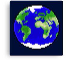Pixel Planet Canvas Print