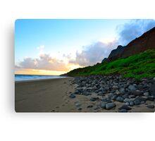 kalalau beach Canvas Print