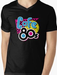 Cafe 80s Mens V-Neck T-Shirt