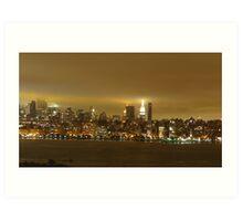 Manhattan , Cloudy evening  Art Print
