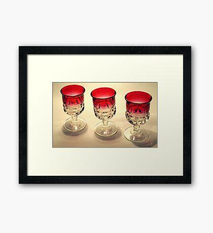 Tre Glasses Framed Print