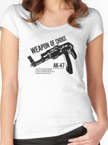 'Weapon of Choice - AK47' Women's Fitted Scoop T-Shirt