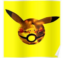 Pikachu | Pokeball Poster