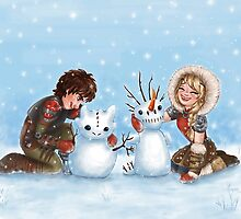 Snow Dragons from HTTYD2 by susannesart