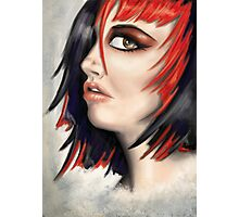 Red Highlights Photographic Print