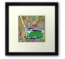 Splitty Splatter 01 Painting Framed Print