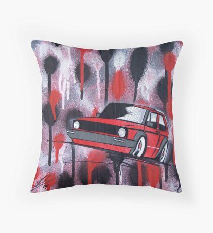 Golf Splatter Painting Throw Pillow