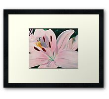 Lily Luster - oil painting of a lily Framed Print