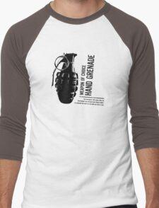 'Weapon of Choice - Hand Grenade' Men's Baseball ¾ T-Shirt