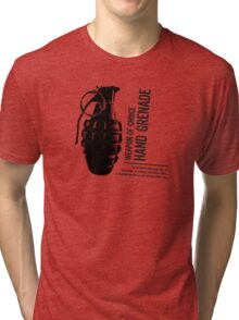 'Weapon of Choice - Hand Grenade' Tri-blend T-Shirt