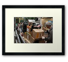 The Garbage Man can Framed Print