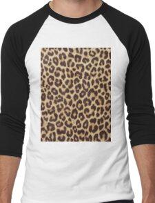Leopard Print Men's Baseball ¾ T-Shirt