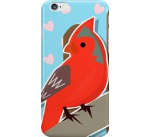 Red Cardinal Illustration iPhone Case/Skin