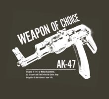 'Weapon of Choice - AK47' - White Logo by Loftworks