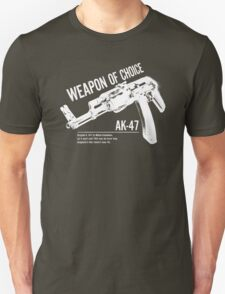 'Weapon of Choice - AK47' - White Logo T-Shirt