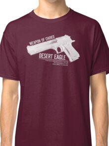 'Weapon of Choice - Desert Eagle' - White Logo Classic T-Shirt