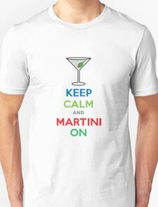 Keep Calm and Martini On T-Shirt