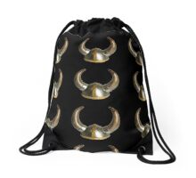 Horn Helmet Drawstring Bag