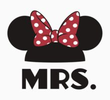Mrs. Mouse Ears // Just Married (Matching Shirt Set) by hocapontas
