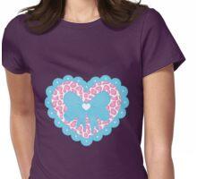 Fancy Heart Womens Fitted T-Shirt
