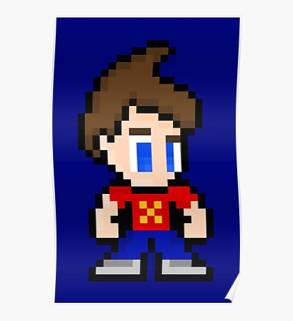 8-Bit Jimmy Neutron Poster